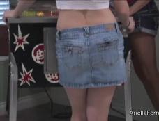 Ariella Ferrera in Pinball with Allison Moore Clip#1