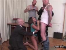 Ariella Ferrera the Gangbang Office Whore Clip#2