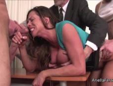 Ariella Ferrera the Gangbang Office Whore Clip#4