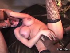 Ariella Ferrera in Big Cock 3 Way Interracial Clip#3